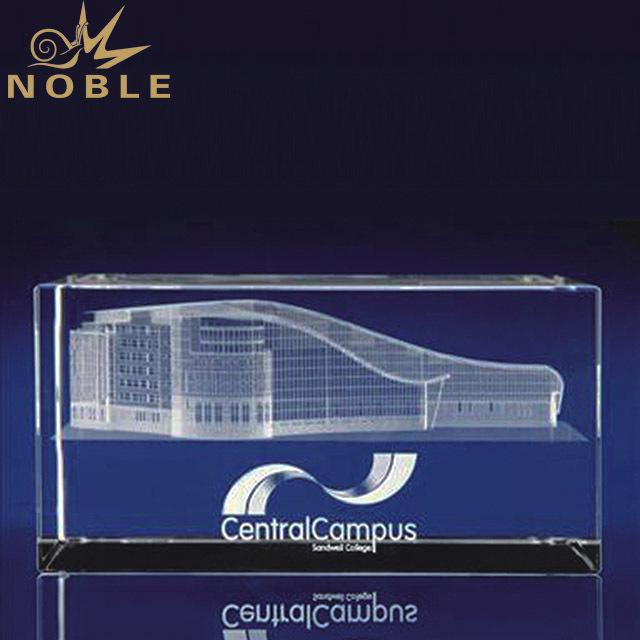 2019 Noble Custom 3D Laser Engraved Crystal Cube Trophy