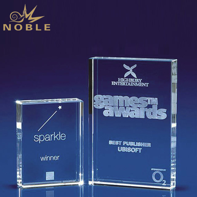 2019 Noble New Product 3D Laser Book Custom Crystal Blanks Award Trophy