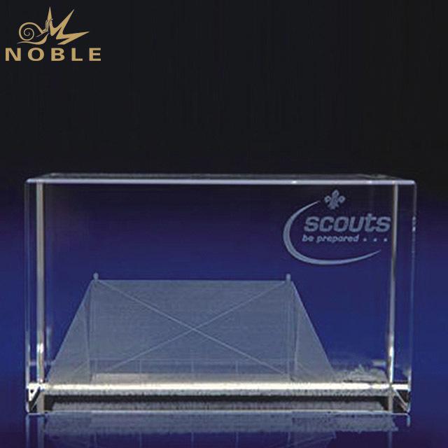 2019 New Design 3D Laser Engraving Exquisite Crystal Trophy for Home Decoration