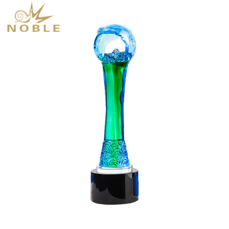 Custom Liuli Colorful Awards Trophies Souvenir Trophy