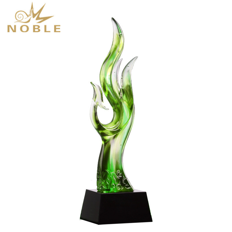 Luxury Customize Engraving Unique Liuli Music Trophy Award For Souvenir