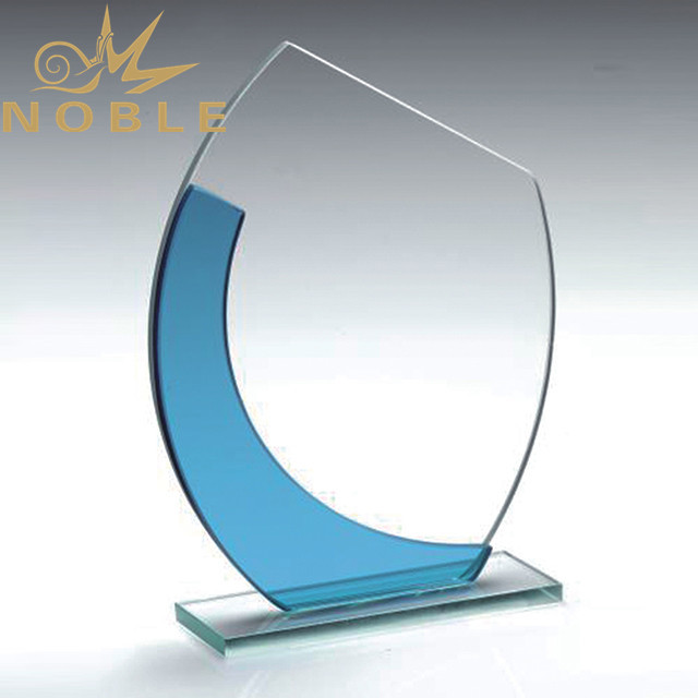 High quality best selling jade glass award plaque
