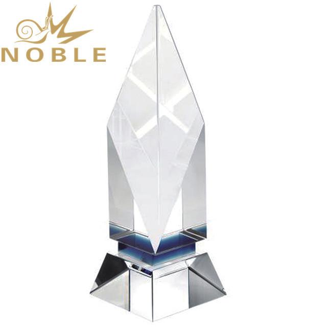 Custom design high quality blank crystal cube award trophy