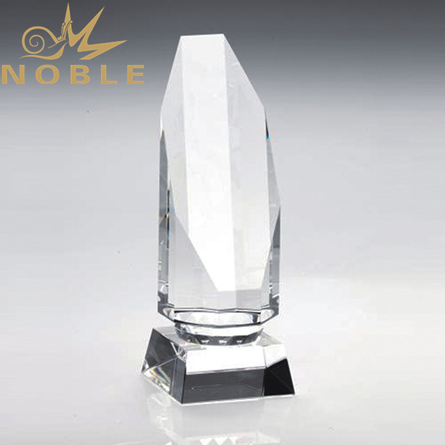 High quality custom octagon column crystal award trophy