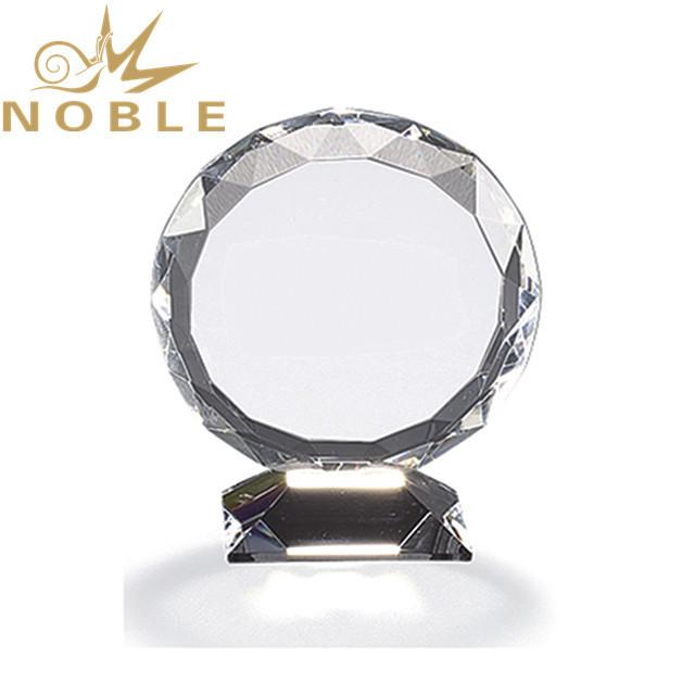High quality crystal diamond cutting sunflower crystal award