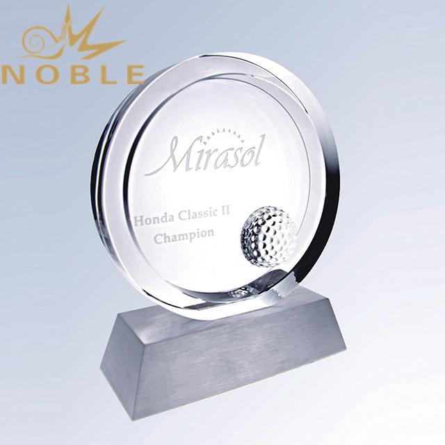 Custom sports crystal golf award