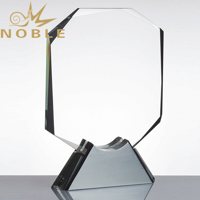 Custom square crystal palque trophy