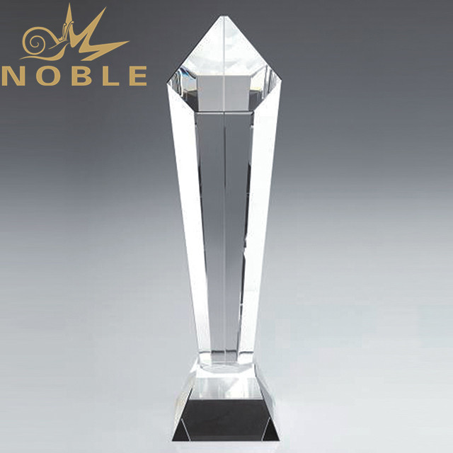 Custom design corporate crystal trophy