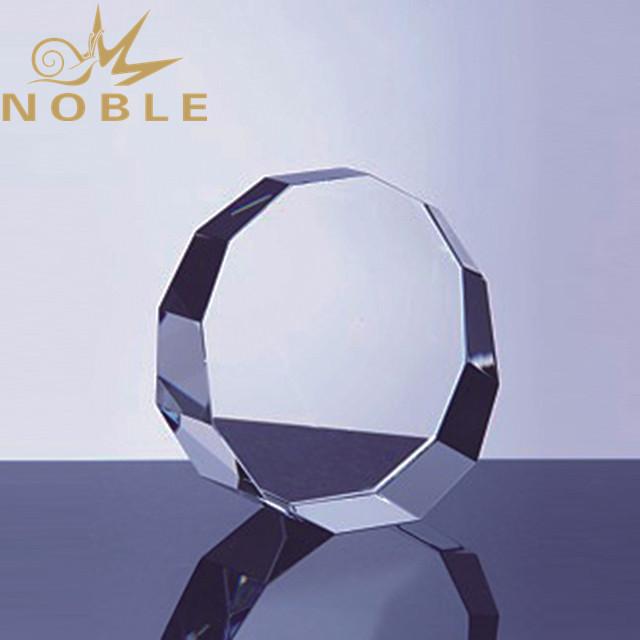 Noble high quality blank crystal round award