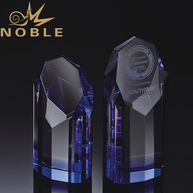 Noble Custom octagon crystal plaque trophy