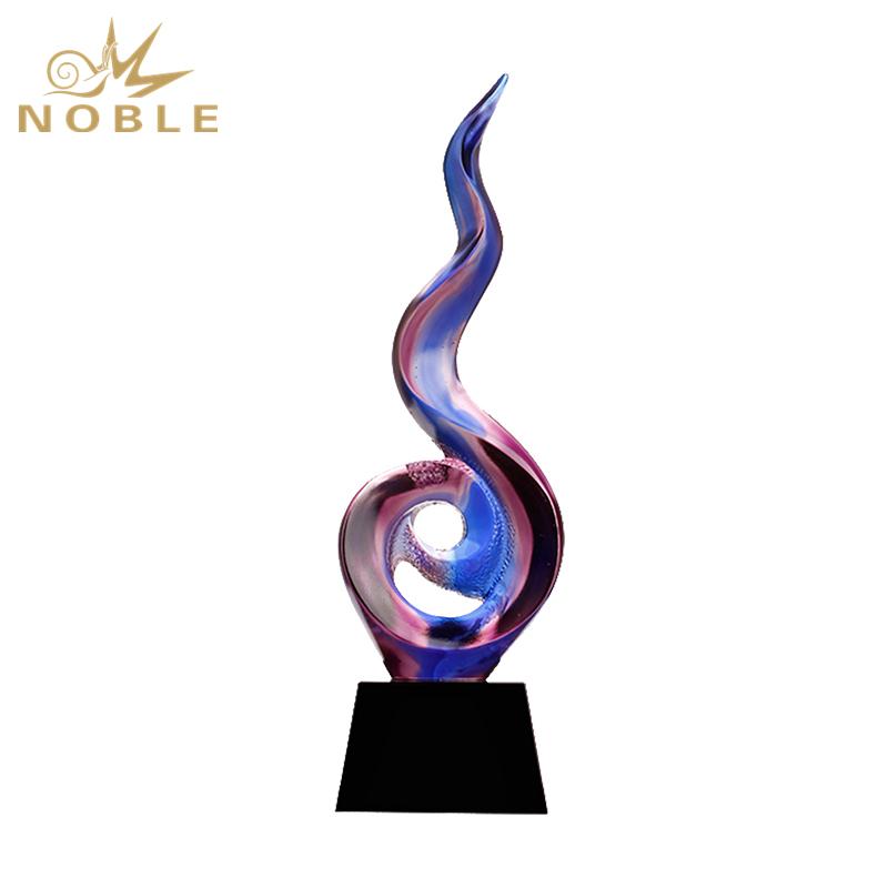 Popular Design Liu Li Award Trophy For Souvenir
