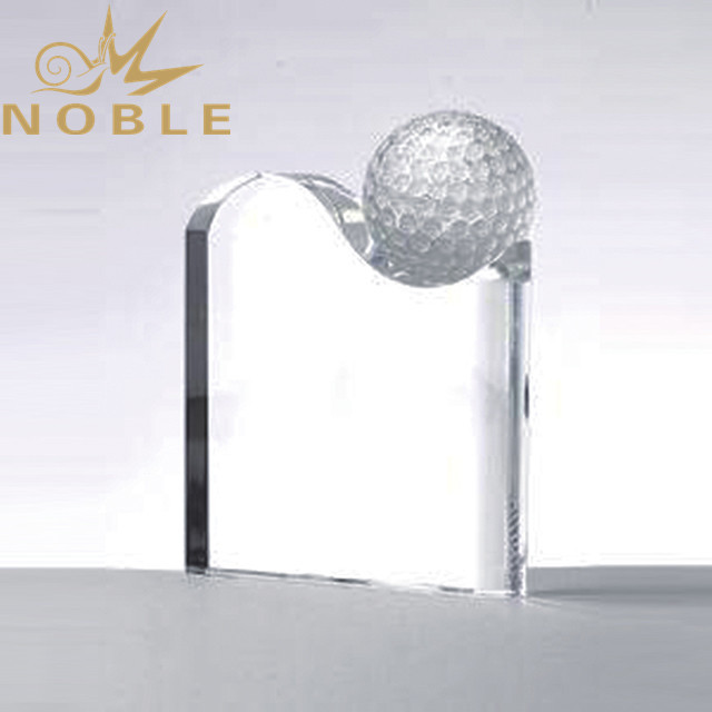 Free engraving custom sports crystal golf trophy