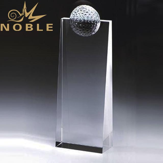 High quality crystal wedge with half golf ball
