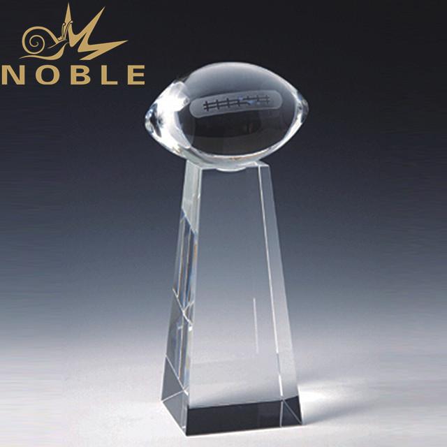 Noble Custom Crystal American Football trophy