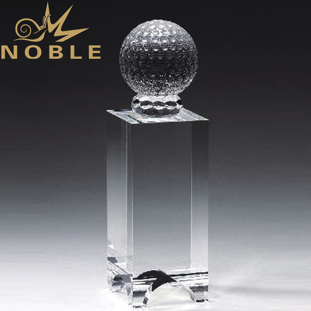 High quality golf award crystal tower
