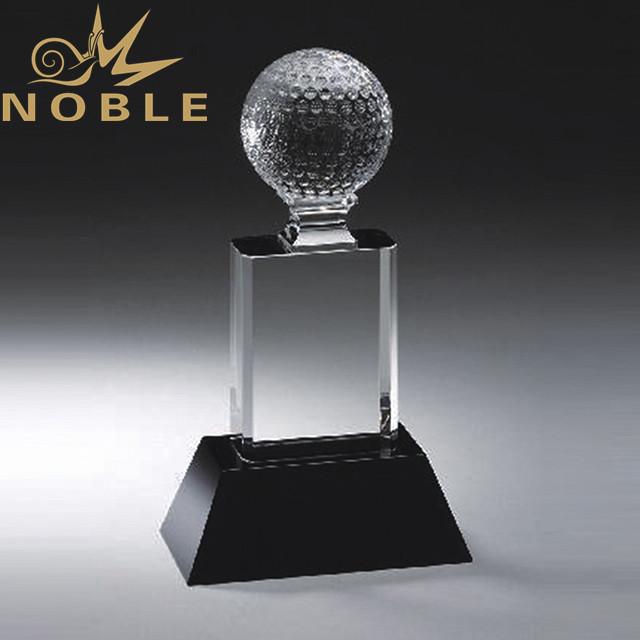High quality free engraving crystal golf award