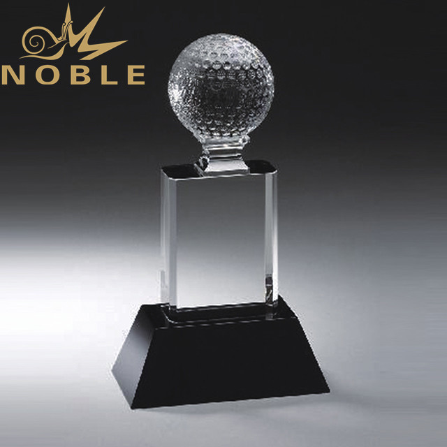 High quality free engraving crystal golf award