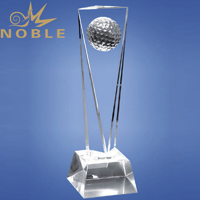 Best selling clear crystal golf trophy