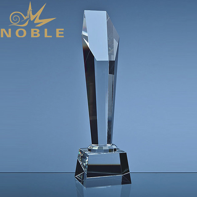 Custom engraving crystal tower award