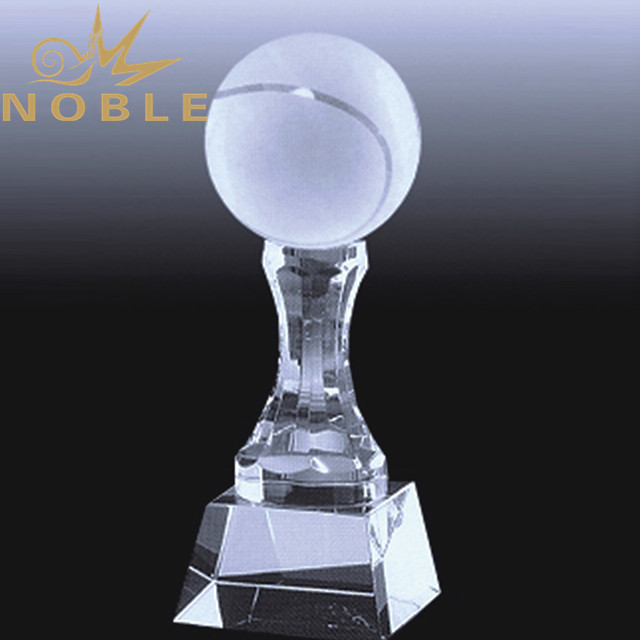 Noble custom sports crystal tennis trophy