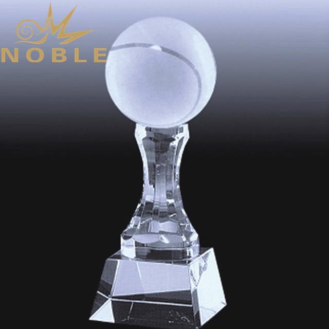 Noble custom sports crystal tennis trophy