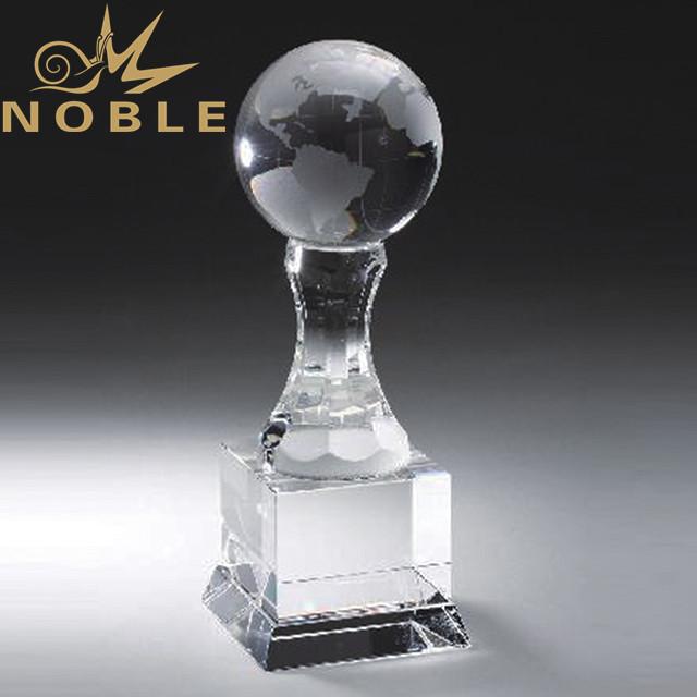Customized crystal globe trophy wholesale