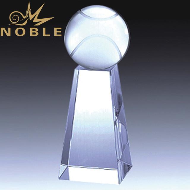Unique Art Design Crystal tennis award