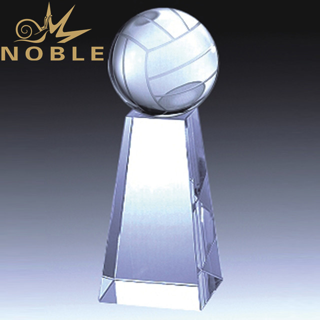 High quality crystal volleyball trophy