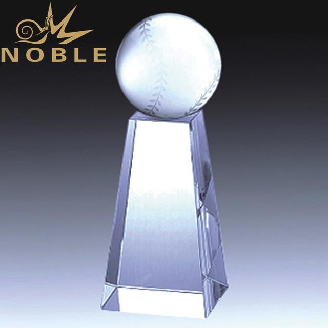 High quality custom crystal baseball trophy