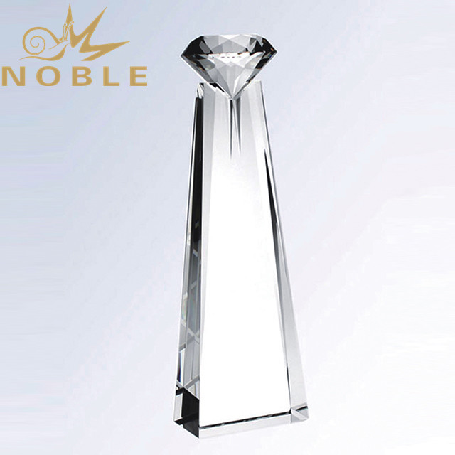 Noble custom engraving crystal diamond award