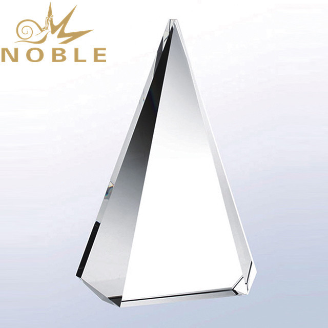 Noble high quality free engraving blank crystal pyramid award