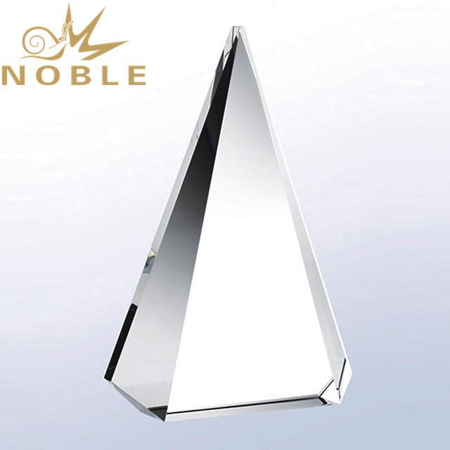 Noble high quality free engraving blank crystal pyramid award
