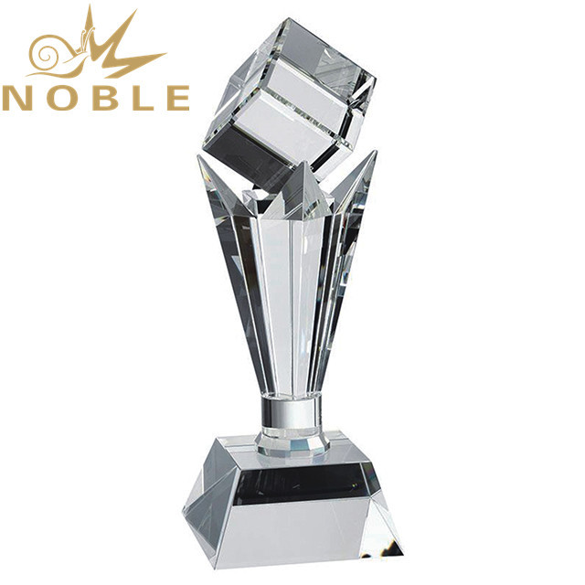 Noble best selling crystal cube tower trophy
