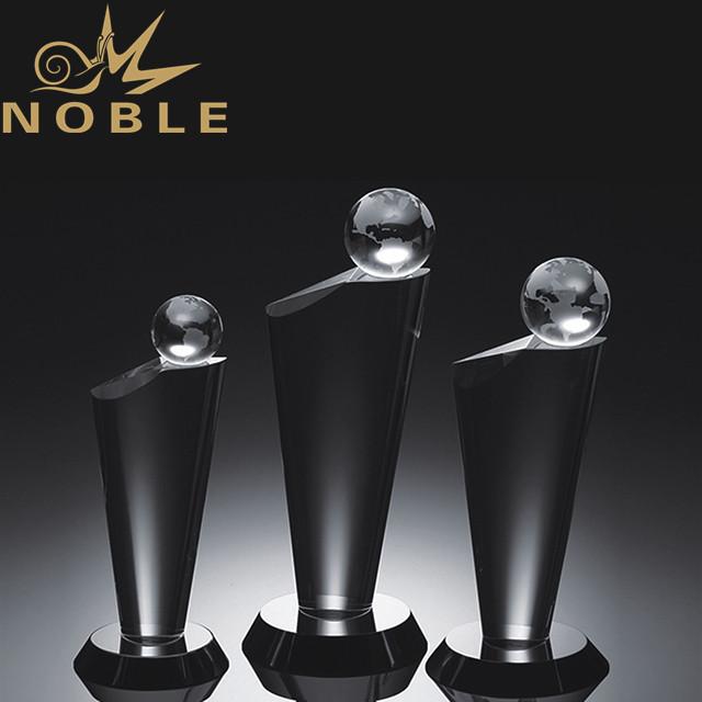 High quality blank crystal globe trophy