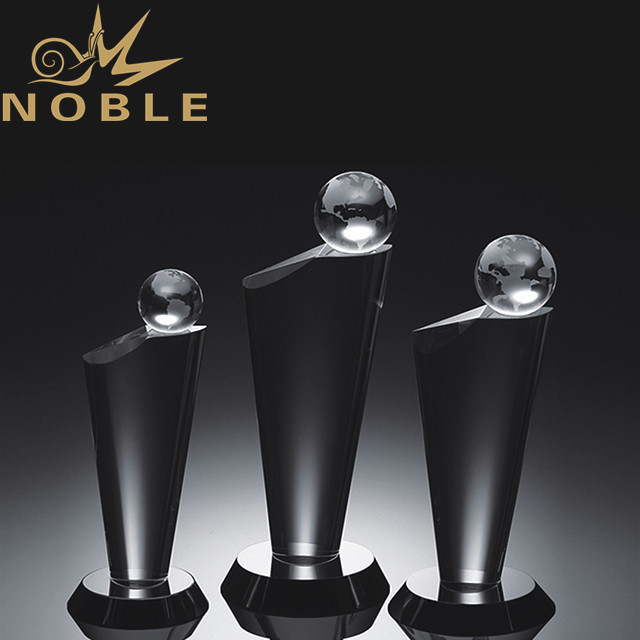 High quality blank crystal globe trophy