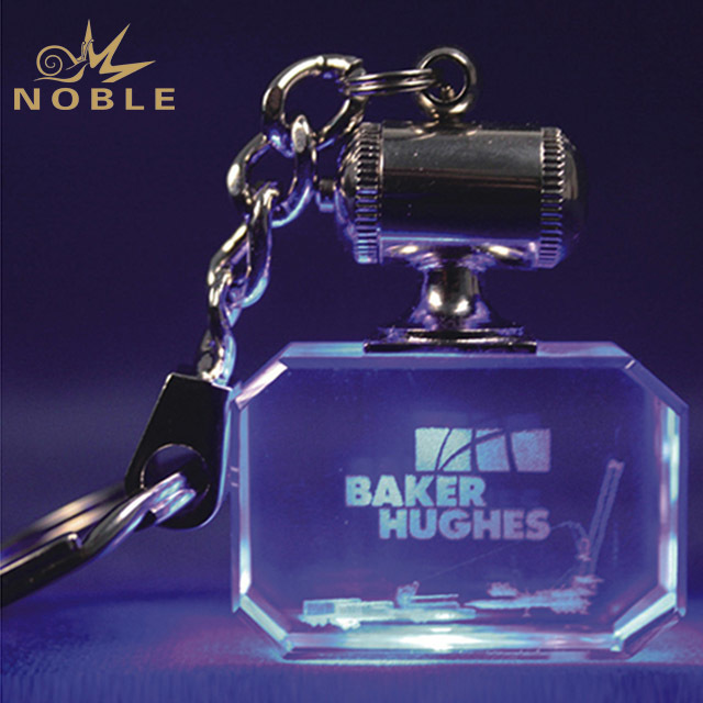 2019 Noble Crystal 3D Laser Engraved Key Chain For Navigation Souvenir