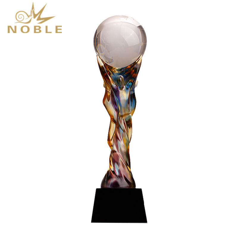 Custom Glaze Liuli Trophy High-Grade Innovative Souvenir Award Trophy