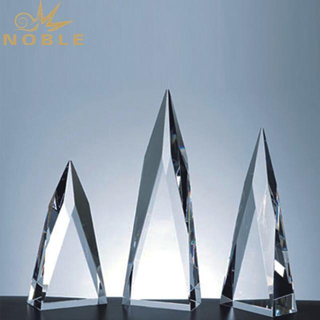 3D Laser Engraved Tower Crystal Trophy