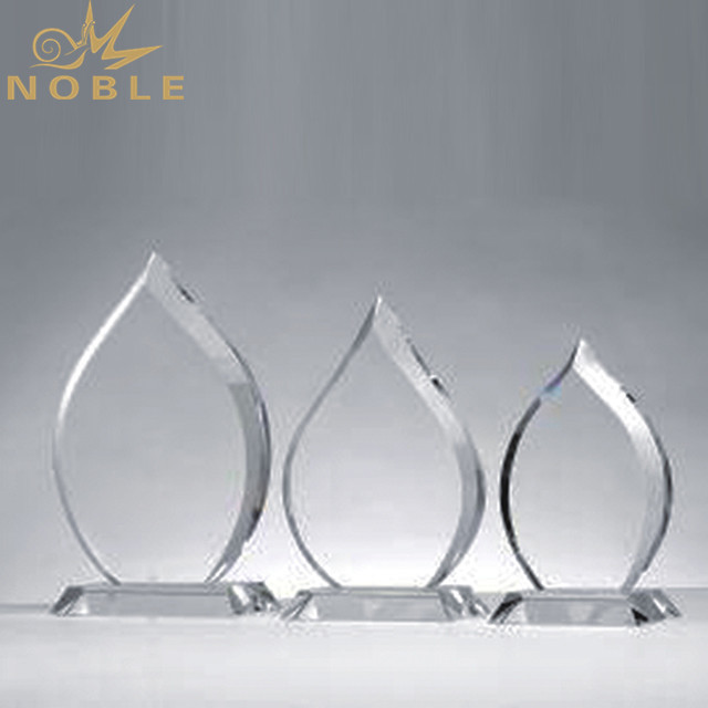Customized Blank Crystal Trophy For Company Sales Awards