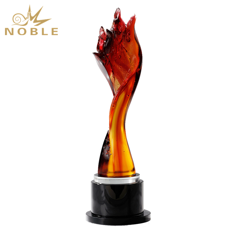 New Design Amber Color Torch Liu Li Award