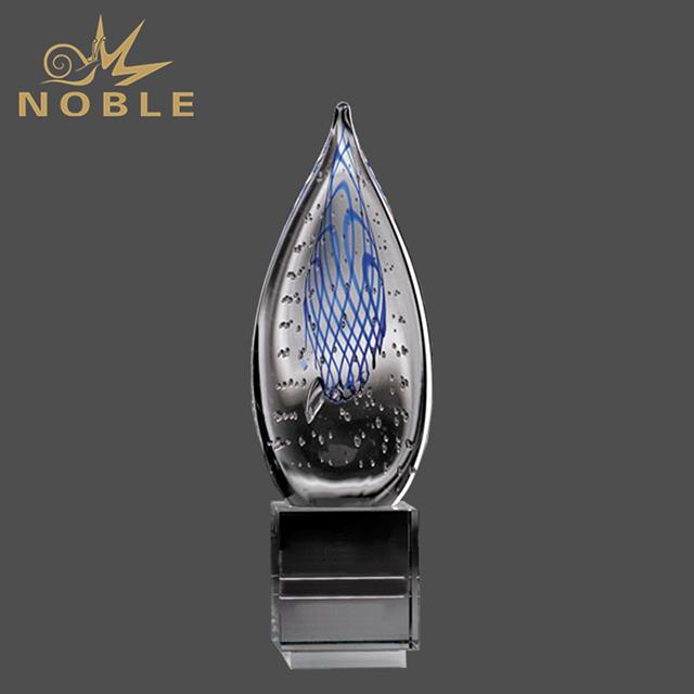 Luxury Liuli Art Glass Award Trophy
