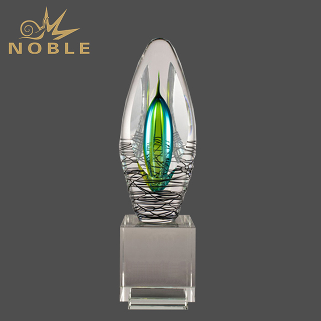 2019 Noble Chinese Liuli Art Glass Liuli Trophy