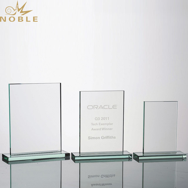 2019 Noble Wholesale Blank square Crystal Glass Trophy Award for Souvenir