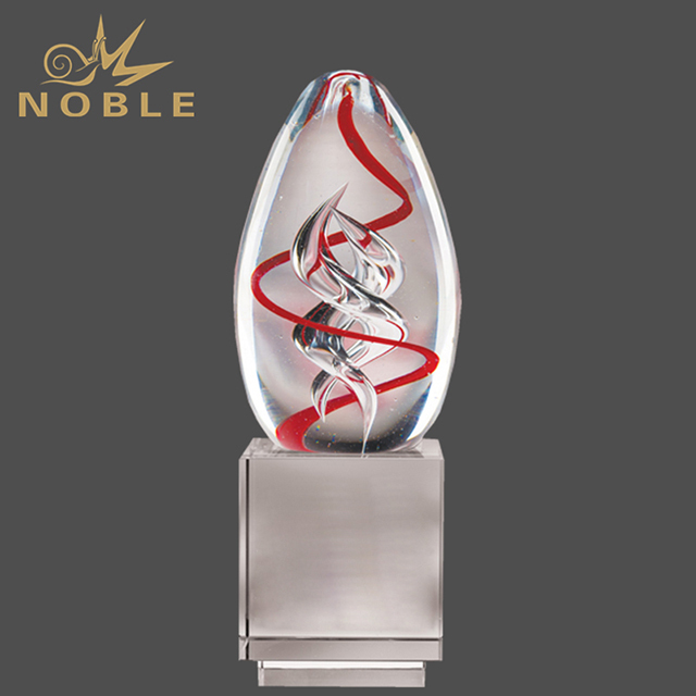 Wholesale Art Hand Blown Glass Trophy