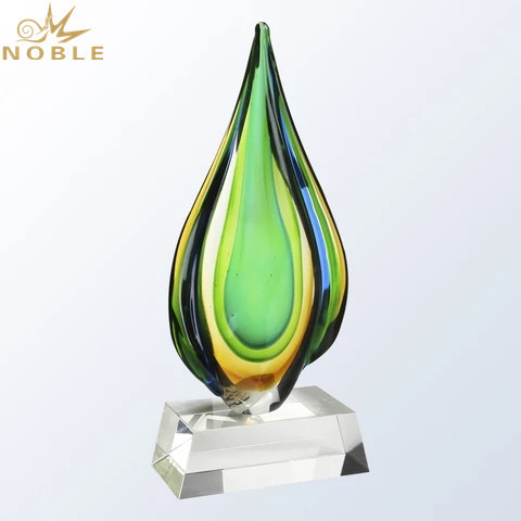 Hot Sale Newcome Blue Crystal Water Drop Trophy For Event Gifts