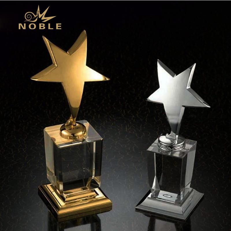 K9 Crystal Custom Free Engrave Logo Star Award