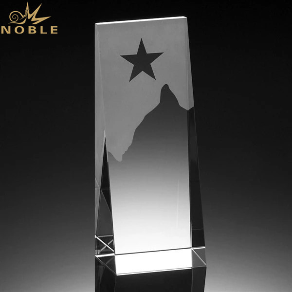 Star Crystal Trophy Award Blank Crystal Cubes for Engraving for Business Gifts