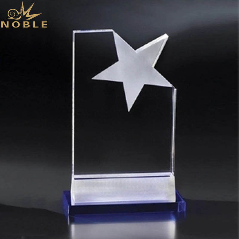 New Design Star Trophy Plaque K9 Crystal Trophy Award for Awards