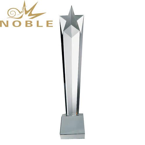 Wholesale Crystal Star Award Trophy Column For Souvenir