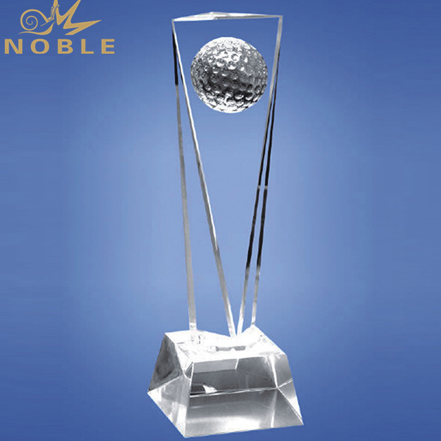 Custom High Quality New Type Product Golf Crystal Award For Sports Award